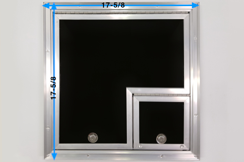 16x16 Black Fiber Optic Splicing Door