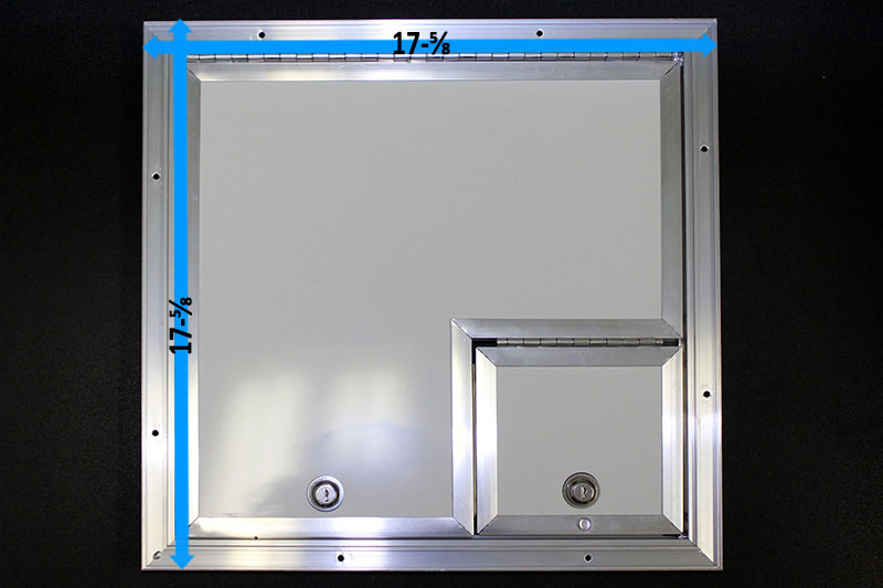 16x16 Fiber Optic Splicing Door, 6x6 Right - Click Image to Close